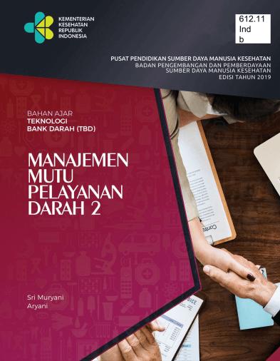 buku manajemen mutu pelayanan darah II